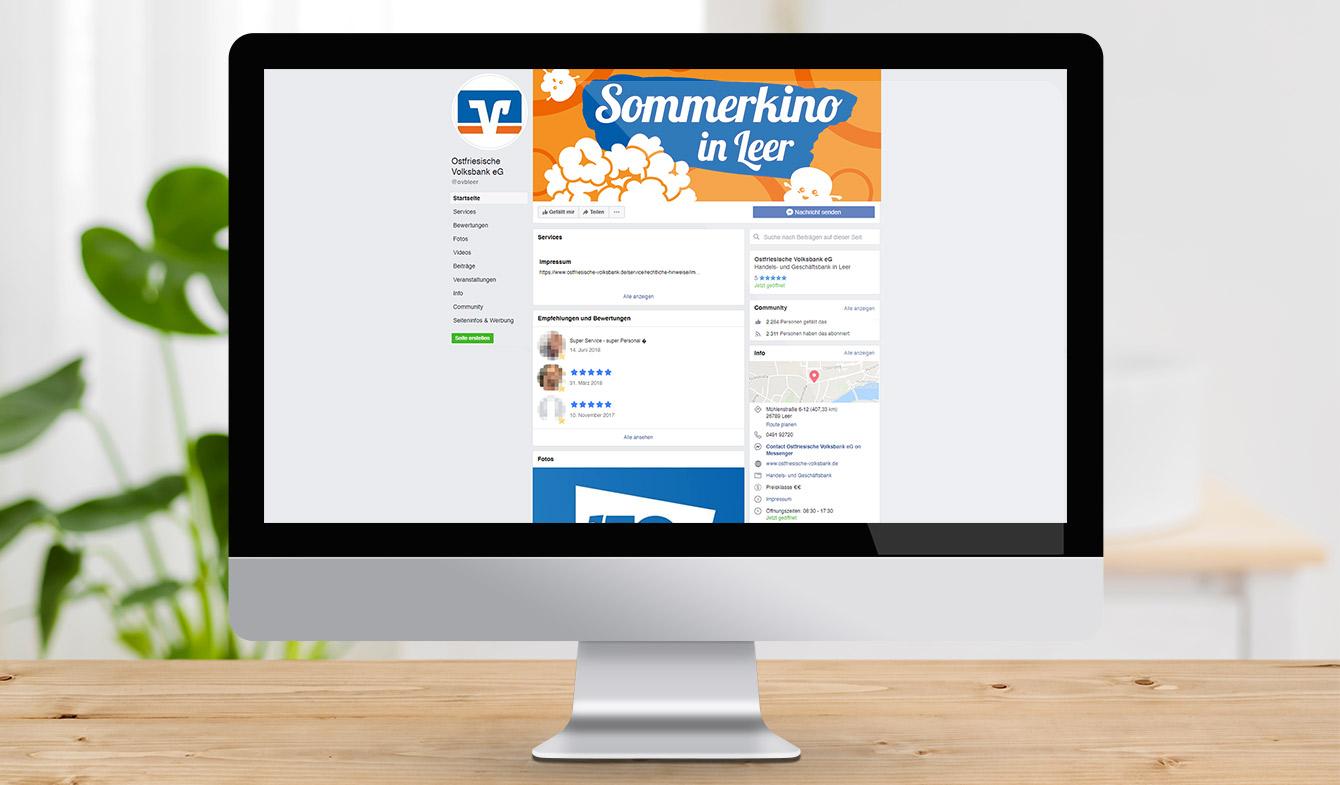 Ostfriesische Volksbank - Sommerkino-Event