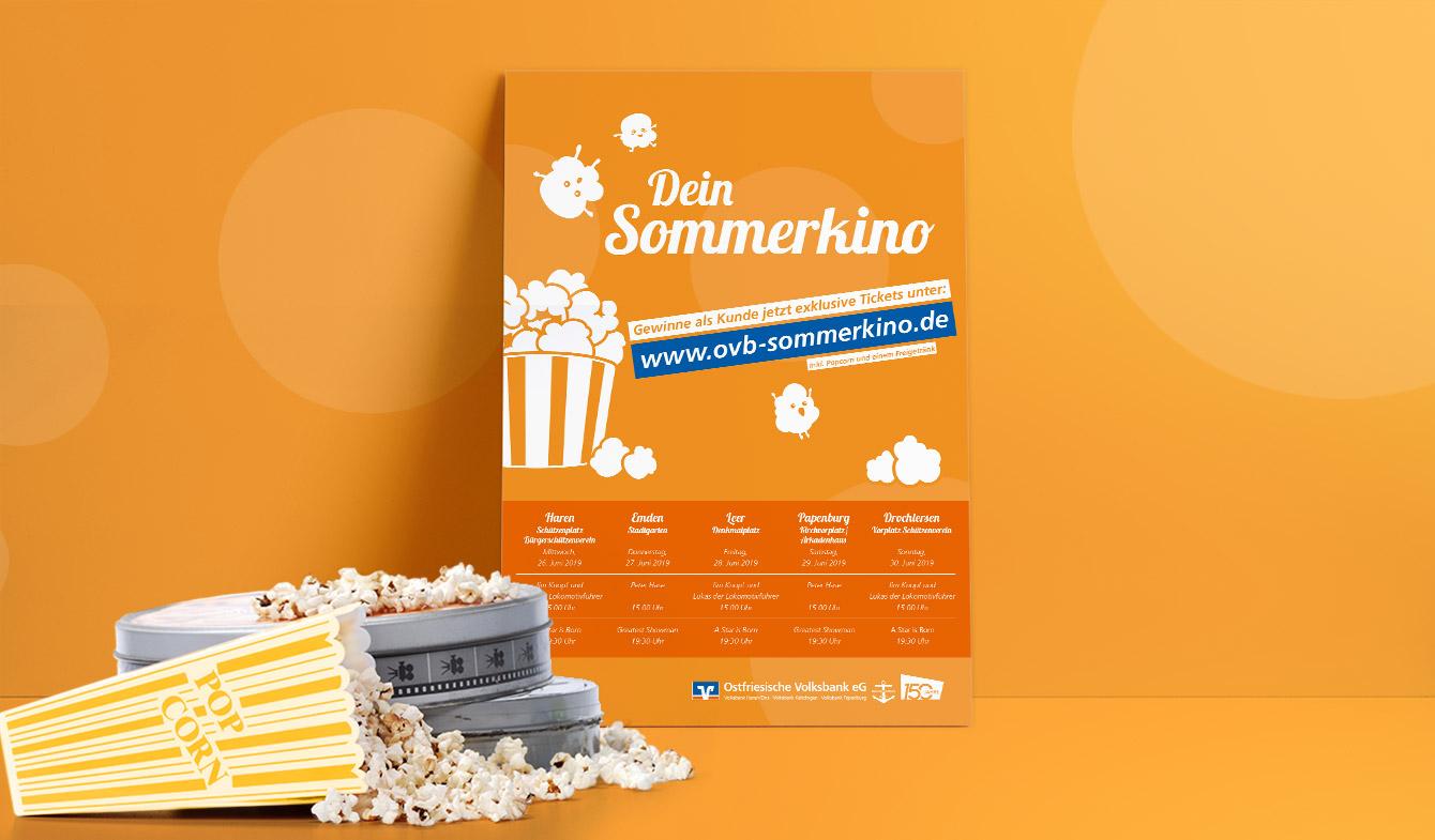 Ostfriesische Volksbank eG Sommerkino-Plakat