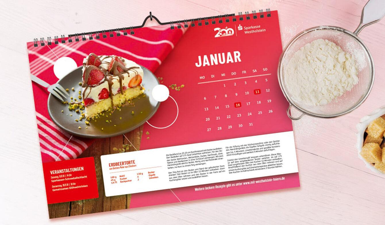 Sparkasse Westholstein - Jubiläum Backwettbewerb Kalender